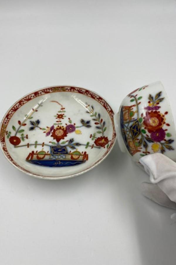 Meissen 18.Yüzyıl Fincan Ve Tabak