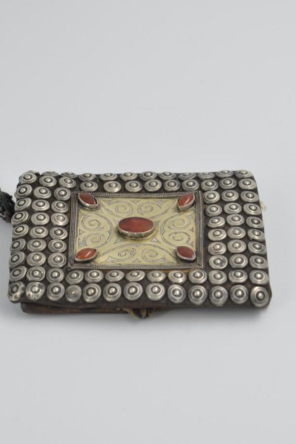 Osmanlı Gümüş İşlemeli Cüzdan