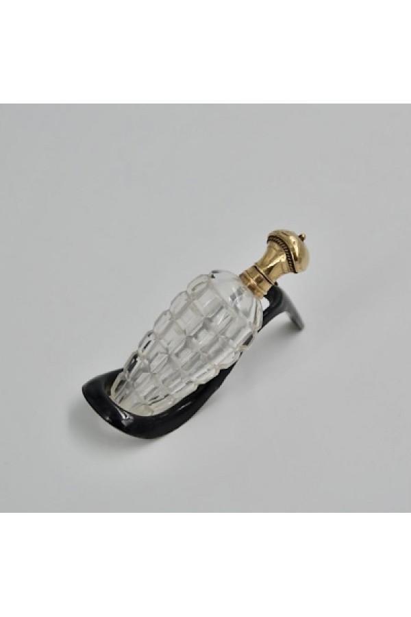 14 Ayar Altın Kapaklı Fransız Parfüm Şişesi