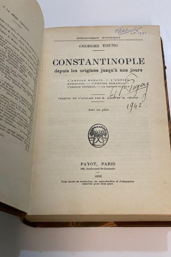 Constantinople Depuis les Origines Jusqu'a nos Jours Georges Young