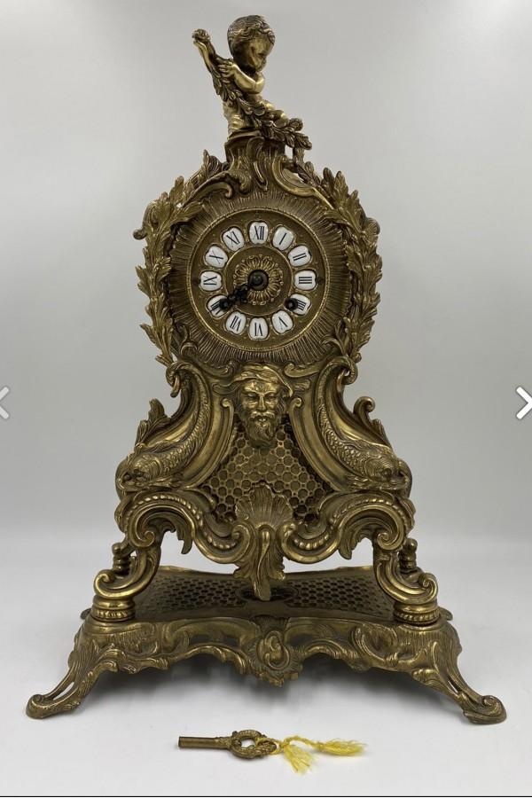 Bronz 19.Yüzyıl Şömine Saati