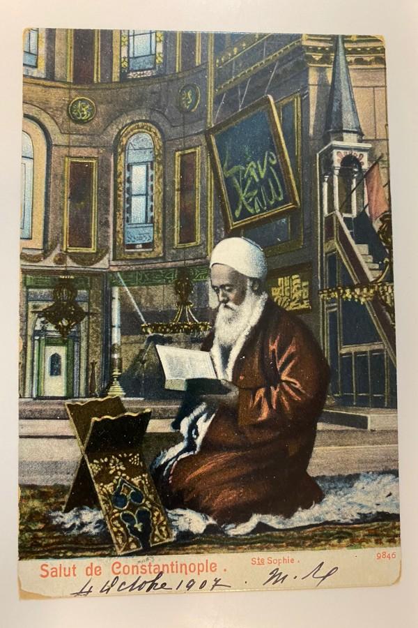 Ayasofya Camii Osmanlı Kartpostal